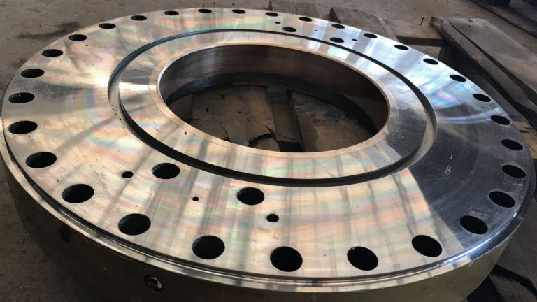 Steering gear cover machined