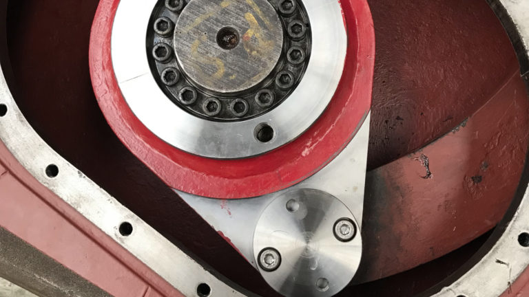 flap tiller adjusted and expansion ring tightened